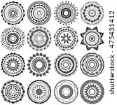 set of round ornament pattern | Shutterstock .eps vector #475431412