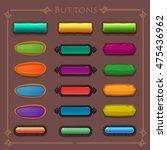 buttons cartoon set  vector...