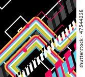 vector disco art background | Shutterstock .eps vector #47544238