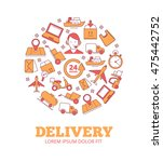 vector logo of logistics and...