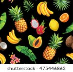 seamless pattern with tropical... | Shutterstock .eps vector #475446862