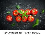 Fresh Cherry Tomatoes On A...