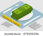 business lunch infographics on... | Shutterstock . vector #475455256