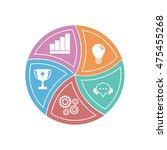 vector design for infographic.... | Shutterstock .eps vector #475455268