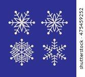 silver glitter snowflakes | Shutterstock .eps vector #475459252