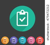 clipboard checklisticon flat... | Shutterstock .eps vector #475472212