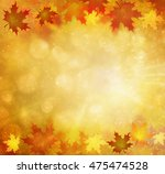 beautiful sunny colorful autumn ... | Shutterstock . vector #475474528
