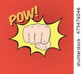 fist hitting. the punch...   Shutterstock . vector #475476046