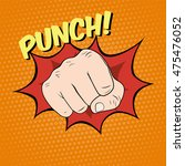 fist hitting  fist punching in... | Shutterstock . vector #475476052