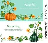 harvest celebration banners.... | Shutterstock .eps vector #475479226