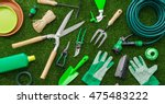 Gardening tools and utensils on ...