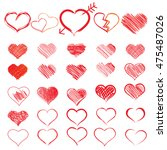 red heart collection icon  love ... | Shutterstock . vector #475487026