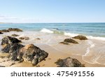 Small photo of Ogunquit Beach on a Sunny Afternoon, Ogunquit, Maine, USA. Ogunquit was named by the Abenaki tribe, because the word means â??beautiful place by the seaâ?�.