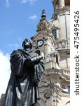 statue of martin luther in... | Shutterstock . vector #475495426