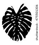 monstera leaf silhouette... | Shutterstock . vector #475501306