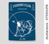 fishing club brochure flyer... | Shutterstock .eps vector #475501498