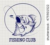 Hand Drawn Fishing Club Logo....