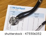 dna test report of paternity   Shutterstock . vector #475506352