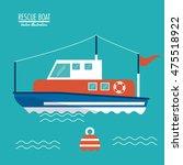 boat ship sea ocen... | Shutterstock .eps vector #475518922
