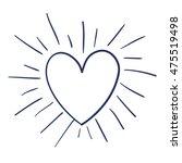 heart love isolated icon vector ... | Shutterstock .eps vector #475519498