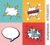 boom bubble ring cloud thunder...   Shutterstock .eps vector #475520572