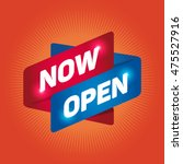 now open arrow tag sign. | Shutterstock .eps vector #475527916