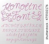 hand written   monoline font  ... | Shutterstock .eps vector #475532176