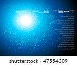 blue abstract composition  ... | Shutterstock .eps vector #47554309
