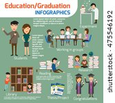 infographics detail of graduate ... | Shutterstock .eps vector #475546192
