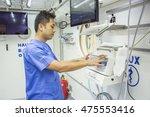male nurse  in hyperbaric... | Shutterstock . vector #475553416