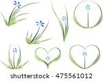 vector drawing orchid flower...   Shutterstock .eps vector #475561012