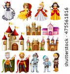 different fairytales characters ... | Shutterstock .eps vector #475561816
