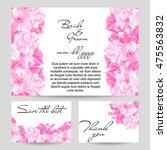 vintage delicate invitation... | Shutterstock .eps vector #475563832