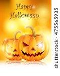 halloween background with evil...   Shutterstock .eps vector #475565935