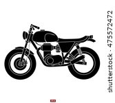 Classic Motorcycle Vector Icon