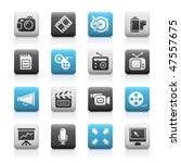 multimedia web icons     matte... | Shutterstock .eps vector #47557675
