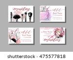 makeup artist business card.... | Shutterstock .eps vector #475577818