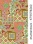 dress fabric print design | Shutterstock . vector #475578262