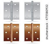 hinges design. stainless steel... | Shutterstock .eps vector #475580932