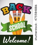 welcome design with colorful... | Shutterstock .eps vector #475584886