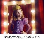 cute little actress. child girl ... | Shutterstock . vector #475589416