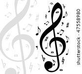 music  background | Shutterstock .eps vector #47558980