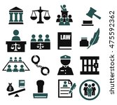 attorney  court  law icon set | Shutterstock .eps vector #475592362
