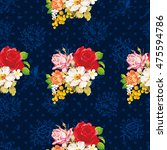 seamless floral pattern with... | Shutterstock .eps vector #475594786