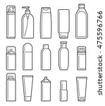 set of cosmetic bottles icons... | Shutterstock .eps vector #475596766