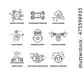 artificial intelligence ai... | Shutterstock .eps vector #475598935