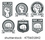 fight club with fist vintage... | Shutterstock .eps vector #475601842