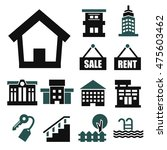 buying home icon set | Shutterstock .eps vector #475603462