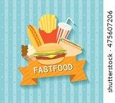 illustration vector menu of... | Shutterstock .eps vector #475607206
