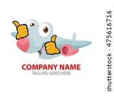 cartoon passenger plane | Shutterstock .eps vector #475616716